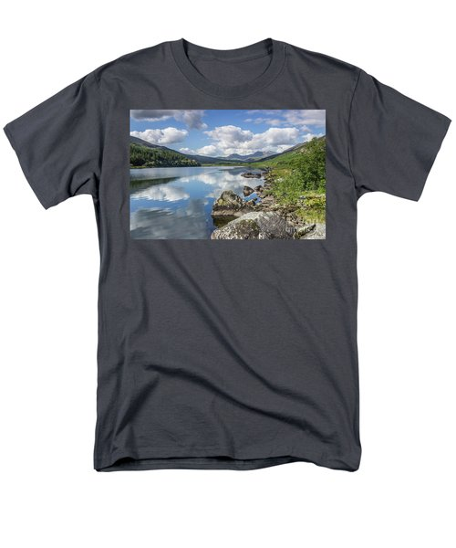 Lake Mymbyr And Snowdon Men's T-Shirt  (Regular Fit) by Ian Mitchell