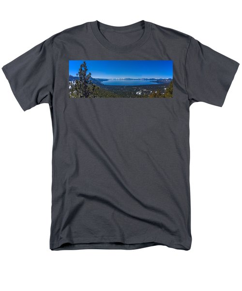 Lake Tahoe Spring Overlook Panoramic Men's T-Shirt  (Regular Fit) by Scott McGuire