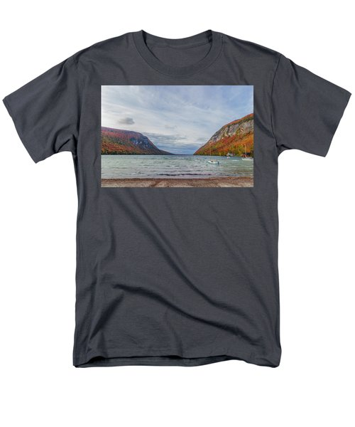 Lake Willoughby Blustery Fall Day Men's T-Shirt  (Regular Fit) by Tim Kirchoff