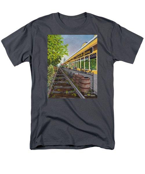 Lambertville Station Men's T-Shirt  (Regular Fit) by Val Miller