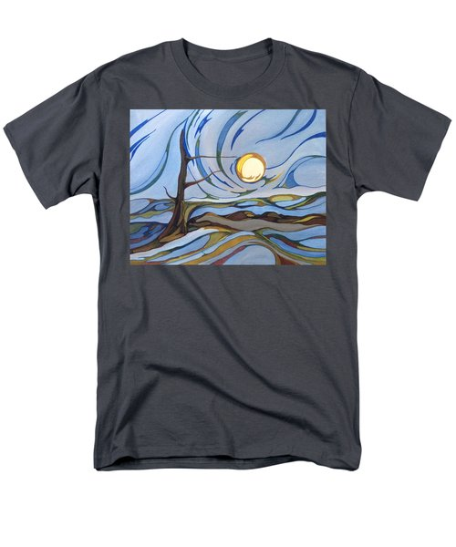 Men's T-Shirt  (Regular Fit) featuring the painting Land Of The Midnight Sun by Pat Purdy