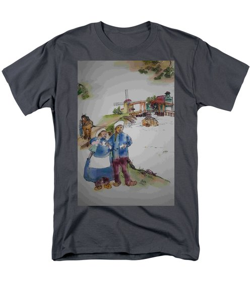 Land Of Windmill Clogs  And Tulips Album Men's T-Shirt  (Regular Fit) by Debbi Saccomanno Chan