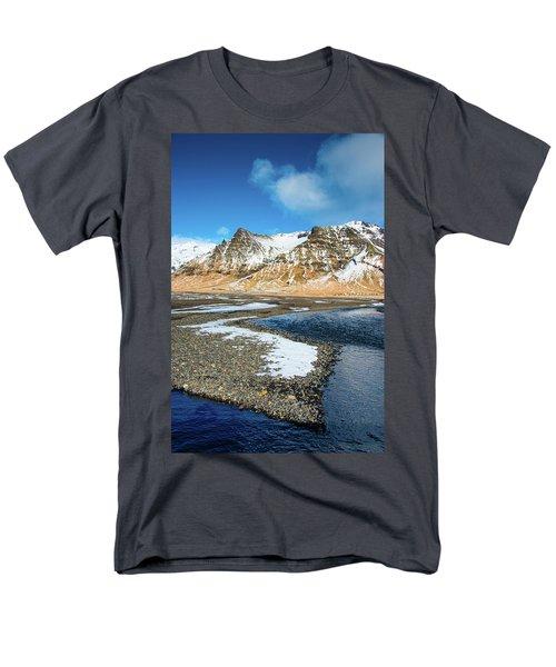 Men's T-Shirt  (Regular Fit) featuring the photograph Landscape Sudurland South Iceland by Matthias Hauser