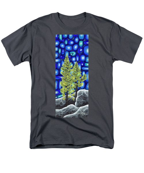 Men's T-Shirt  (Regular Fit) featuring the painting Larch Dreams 3 by Rebecca Parker