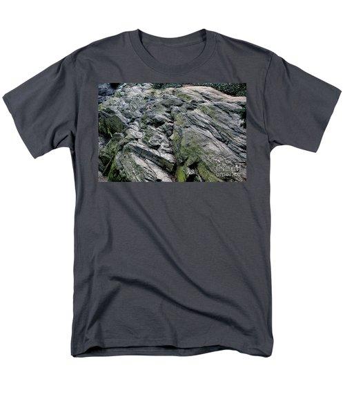 Large Rock At Central Park Men's T-Shirt  (Regular Fit) by Sandy Moulder