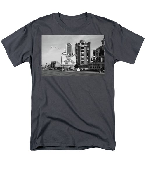 Men's T-Shirt  (Regular Fit) featuring the photograph Las Vegas 1994 #1 Bw by Frank Romeo