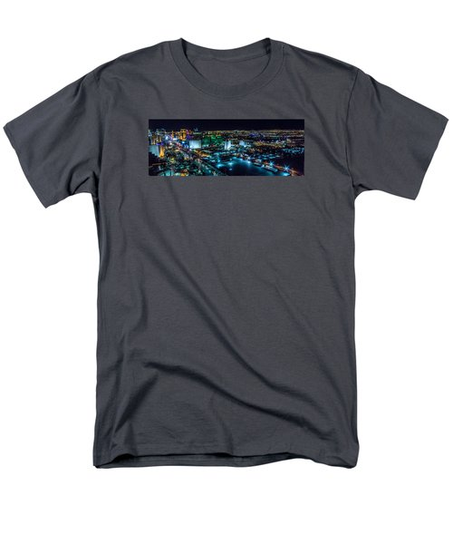 Las Vegas Looking North Men's T-Shirt  (Regular Fit) by Michael Rogers