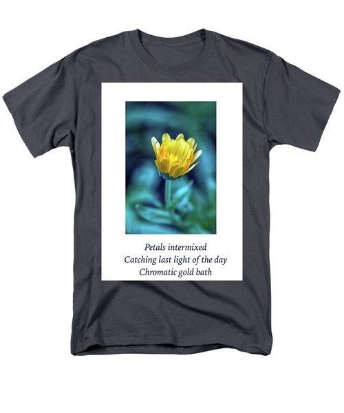 Last Light Haiku Men's T-Shirt  (Regular Fit) by Constantine Gregory