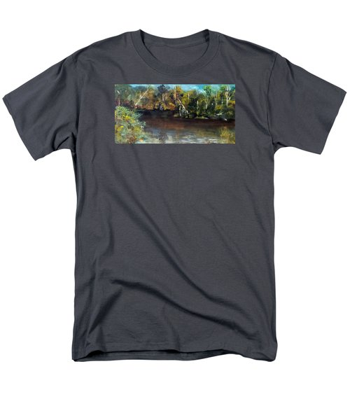 late in the Day on Blue Creek Men's T-Shirt  (Regular Fit) by Jim Phillips