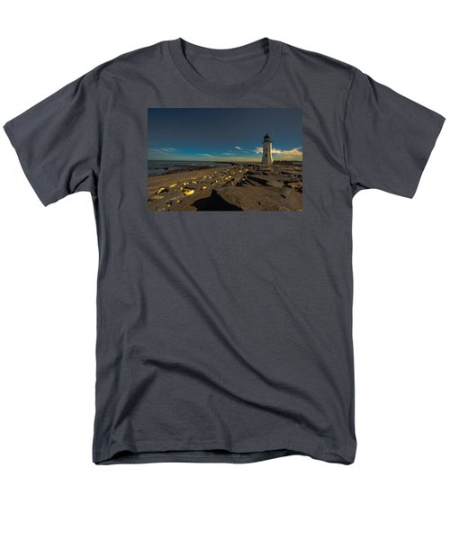 Late Light At The Light Men's T-Shirt  (Regular Fit) by Brian MacLean
