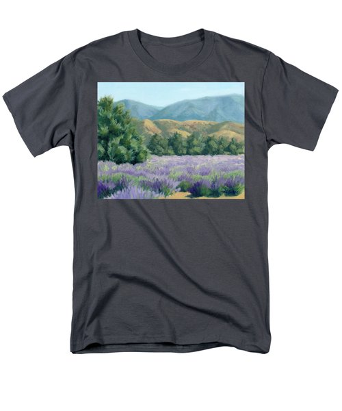 Men's T-Shirt  (Regular Fit) featuring the painting Lavender, Blue And Gold by Sandy Fisher