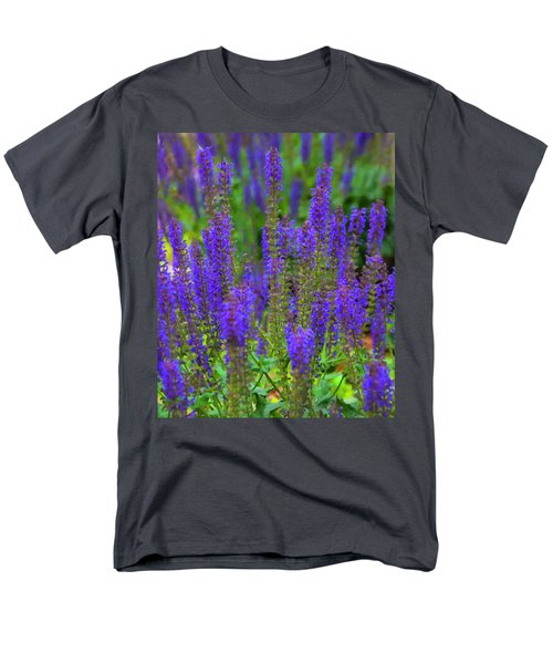 Men's T-Shirt  (Regular Fit) featuring the digital art Lavender Patch by Chris Flees