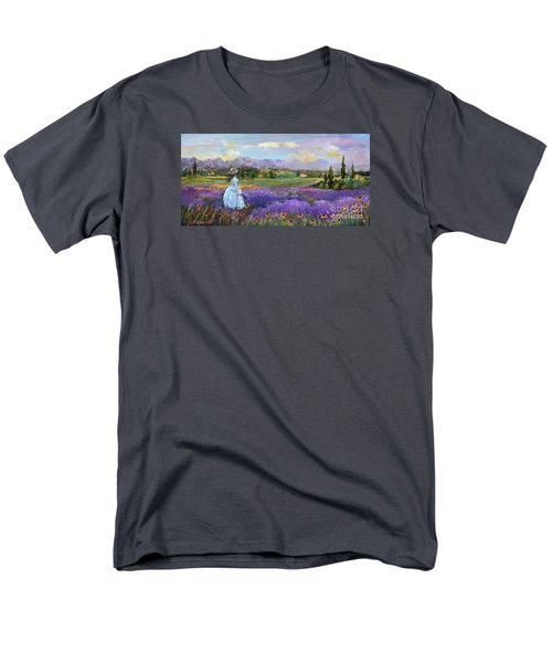 Lavender Splendor  Men's T-Shirt  (Regular Fit) by Jennifer Beaudet