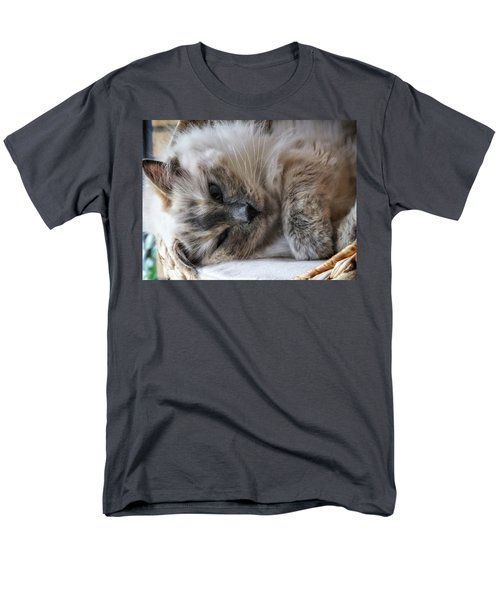 Men's T-Shirt  (Regular Fit) featuring the photograph Lazy Kitty by Karen Stahlros