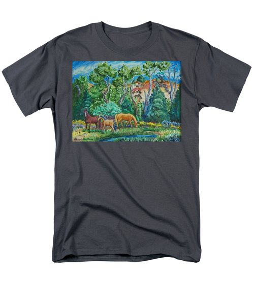Lazy Wyoming Afternoon Men's T-Shirt  (Regular Fit) by Dawn Senior-Trask