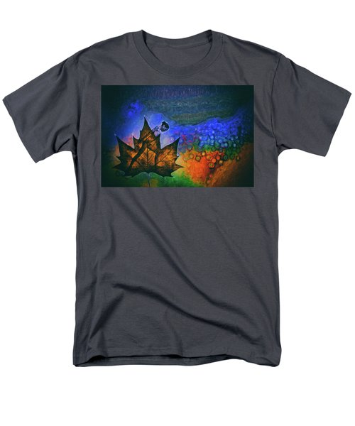 Men's T-Shirt  (Regular Fit) featuring the photograph Leaf Dancer by James Bethanis