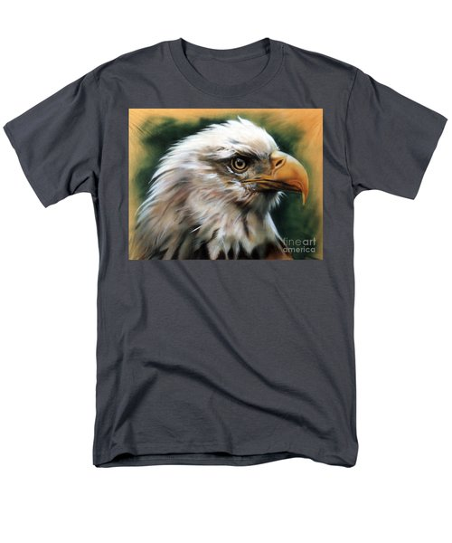 Leather Eagle Men's T-Shirt  (Regular Fit) by J W Baker