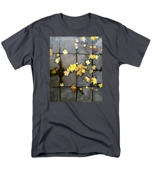 Leaves On Slate Men's T-Shirt  (Regular Fit) by Suzanne Lorenz