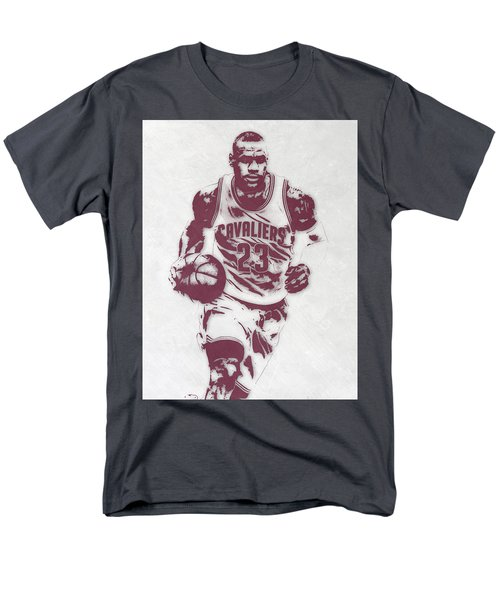 Lebron James Cleveland Cavaliers Pixel Art 4 Men's T-Shirt  (Regular Fit) by Joe Hamilton