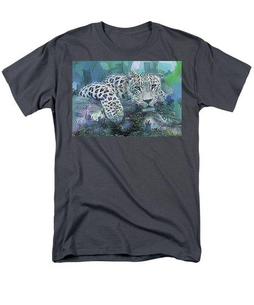 Men's T-Shirt  (Regular Fit) featuring the digital art Leopard Abstract by Galen Valle