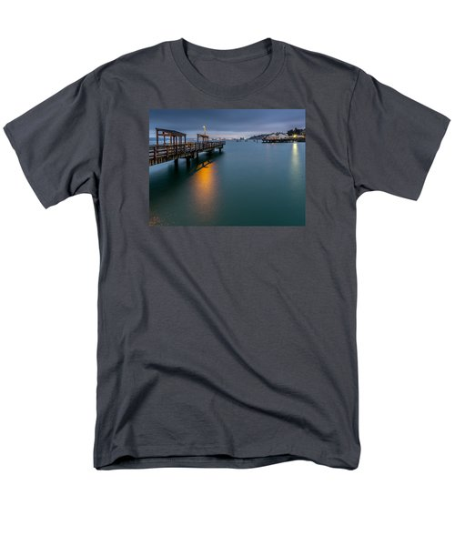 Men's T-Shirt  (Regular Fit) featuring the photograph Less Davis Pier Commencement Bay by Rob Green