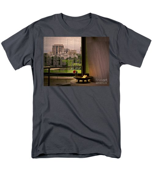 Men's T-Shirt  (Regular Fit) featuring the photograph Let The Flame Never Die by Melissa Messick