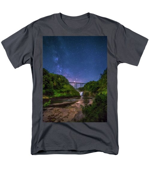 Letchworth At Night Men's T-Shirt  (Regular Fit) by Mark Papke