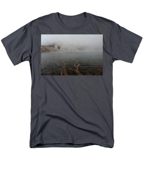 Men's T-Shirt  (Regular Fit) featuring the photograph Liberty Lake In Fog by Jenessa Rahn