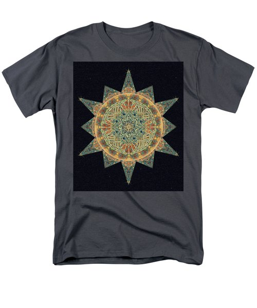 Men's T-Shirt  (Regular Fit) featuring the drawing Life Star Mandala by Deborah Smith