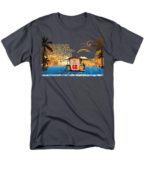 Lifeguard Station 6b Men's T-Shirt  (Regular Fit) by Paulette B Wright