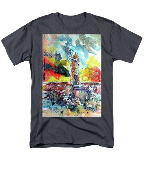 Lighthouse After Storm Men's T-Shirt  (Regular Fit) by Kovacs Anna Brigitta