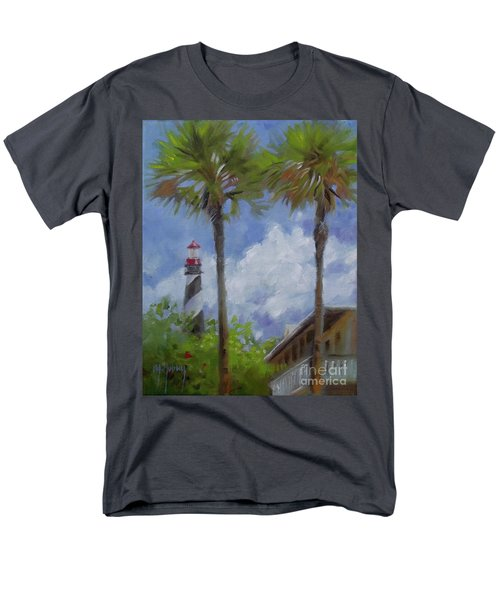 Lighthouse And Palms Men's T-Shirt  (Regular Fit) by Mary Hubley