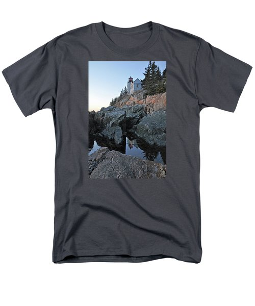 Men's T-Shirt  (Regular Fit) featuring the photograph Lighthouse Reflection by Glenn Gordon