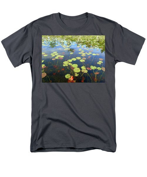Lily Pads And Reflections Men's T-Shirt  (Regular Fit) by Susan Lafleur