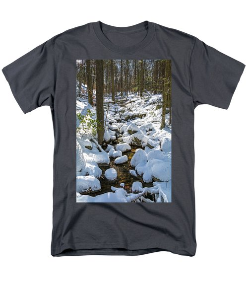 Lily Pads Of Snow Men's T-Shirt  (Regular Fit) by Angelo Marcialis
