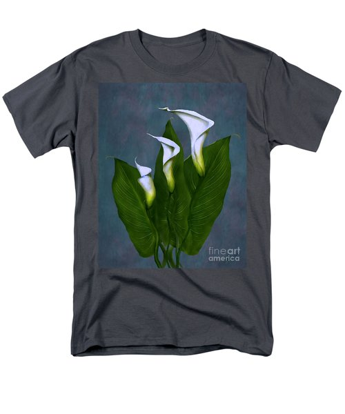White Calla Lilies Men's T-Shirt  (Regular Fit) by Peter Piatt