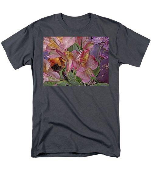 Lily Profusion 7 Men's T-Shirt  (Regular Fit) by Lynda Lehmann