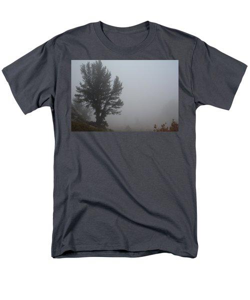 Men's T-Shirt  (Regular Fit) featuring the photograph Limber Pine In Fog by Jenessa Rahn