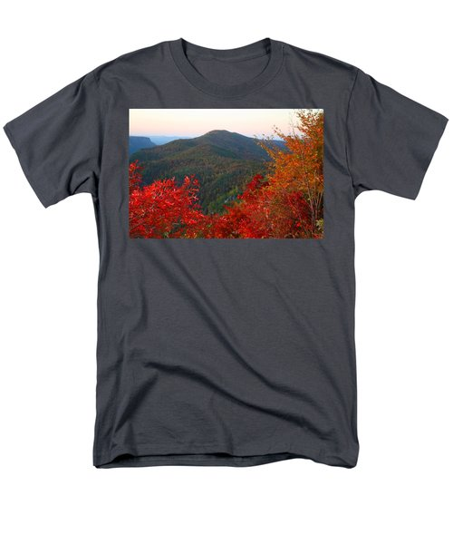 Men's T-Shirt  (Regular Fit) featuring the photograph Linville Gorge by Kathryn Meyer