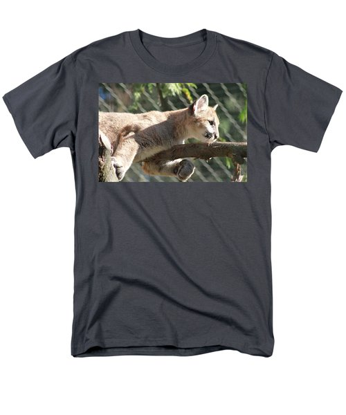 Men's T-Shirt  (Regular Fit) featuring the photograph Lion Around by Laddie Halupa