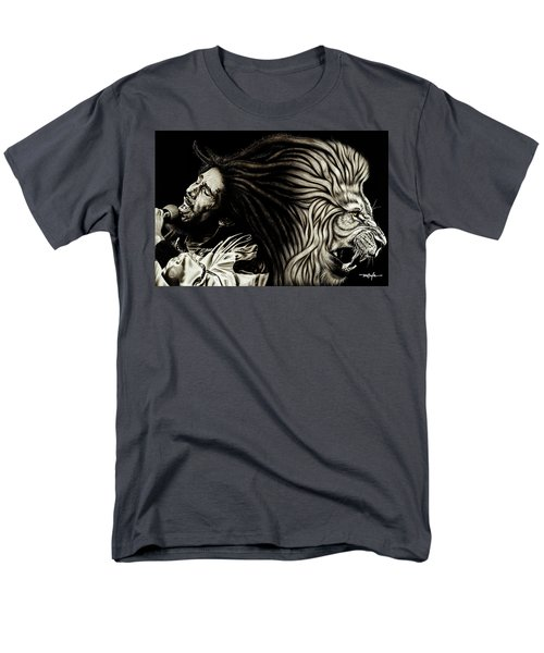 Lion Heart -bob Marley Men's T-Shirt  (Regular Fit)