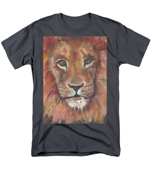 Men's T-Shirt  (Regular Fit) featuring the painting Lion by Jessmyne Stephenson