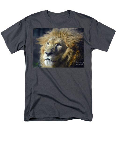 Men's T-Shirt  (Regular Fit) featuring the photograph Lion Portrait by Savannah Gibbs