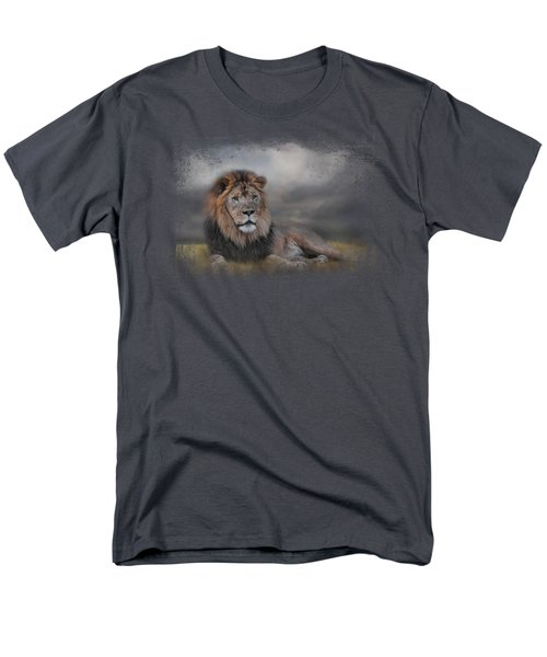 Lion Waiting For The Storm Men's T-Shirt  (Regular Fit) by Jai Johnson