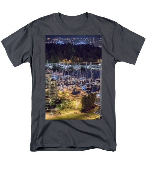 Lions Gate Bridge And Stanley Park Men's T-Shirt  (Regular Fit) by Ross G Strachan