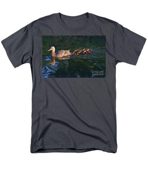 Men's T-Shirt  (Regular Fit) featuring the photograph Little Quacker Formation by Debby Pueschel