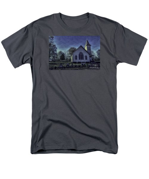 Men's T-Shirt  (Regular Fit) featuring the photograph Little White Church by Ken Frischkorn