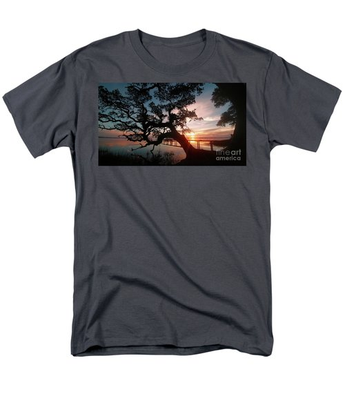 Men's T-Shirt  (Regular Fit) featuring the photograph Live Oak Sunrise by Benanne Stiens