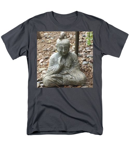 Men's T-Shirt  (Regular Fit) featuring the painting Lizard Zen by Kim Nelson