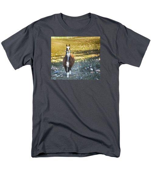Llama Cuteness Men's T-Shirt  (Regular Fit) by Theresa Tahara